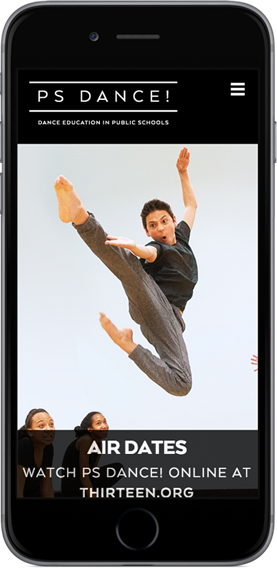 Mobile Webiste for PS Dance NYC